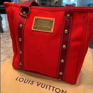 LOUIS VUITTON Cabas Tote Bag Purse & Dust Bag